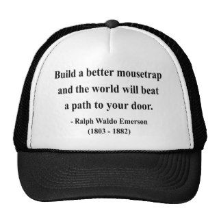 Emerson Quote 15a Trucker Hats