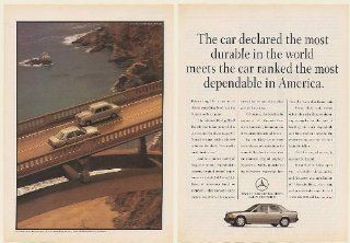 1990 Mercedes Benz Most Dependable in America 1957 Most Durable 2 Page Print Ad (Memorabilia) (56285)
