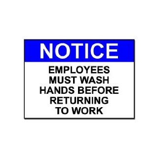 Employees Must Wash Hands   Business Sign   Car, Truck, Notebook, Vinyl Decal Sticker #S342