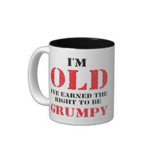 Funny Senior Citizen Gift Coffee Mugs