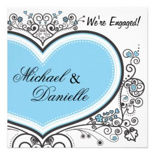 Blue Heart Custom Invitation