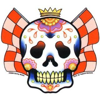 Sunny Buick   Racing Skull   Sticker / Decal Automotive