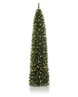 7.5 foot Slim No. 2 Pencil Artificial Christmas Tree with Clear Lights