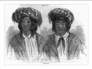 Historic Print (M) Choctaws, sketched near Skullyville in the Choctaw Nation, Indian Territory, in 1853