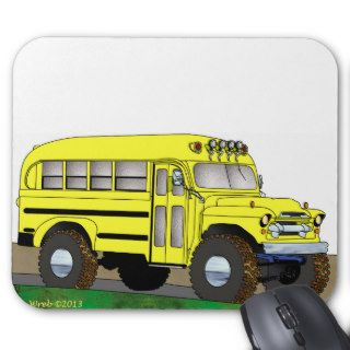 57 Chevrolet Off Road 4X4 School Bus Mouse Pad