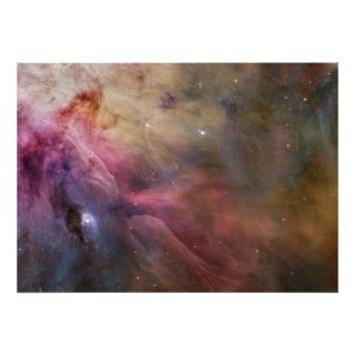 Nebula stars Orion galaxy hipster geek space scien Print
