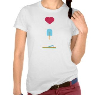 Heart, Ice Pop, Flip Flop Tee Shirt