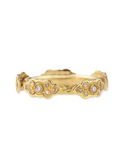 18k Yellow Gold Stackable Ring with Diamond Scrolls   Armenta   Gold (6)