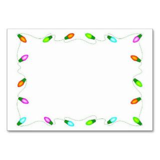 Christmas Lights Border Table Card