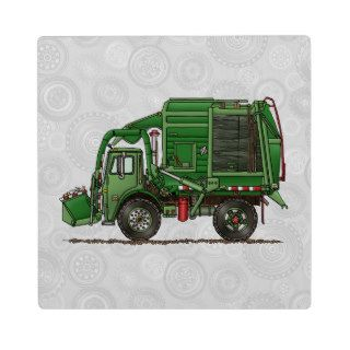 Cute Garbage Truck Trash Truck Photo Plaques