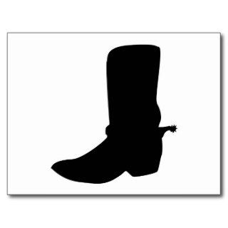 Black Cowboy Boot with Spurs Post Cards