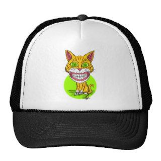 Orange Cat w/ Crazy Eyeballs and Human Teeth Trucker Hat