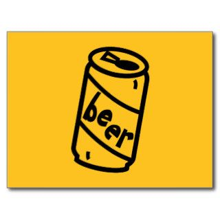 Cartoon Beer Can   Any Team Colors Post Card