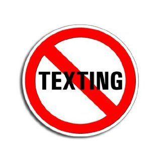 NO TEXTING   Window Bumper Laptop Sticker Automotive