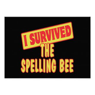 I SURVIVED THE SPELLING BEE CUSTOM INVITATIONS