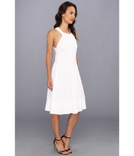 Rebecca Taylor Tuck Front Voile Dress White