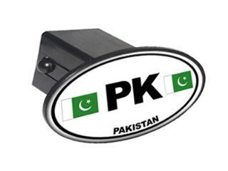 "PK Pakistan Country Euro Auto Oval   2"" Tow Trailer Hitch Cover Plug Insert Automotive"