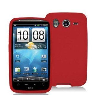 Red Silicone Rubber Gel Soft Skin Case Cover for HTC Inspire 4G Phone by Electromaster Cell Phones & Accessories