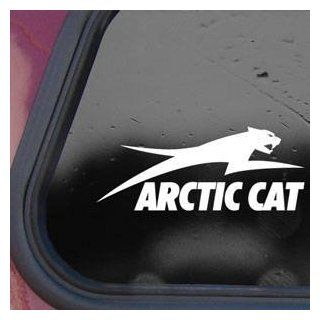Arctic Cat White Sticker Decal Snowmobile Wall Laptop Die cut White Sticker Decal   Decorative Wall Appliques