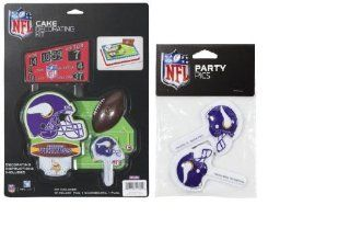 NFL Minnesota Vikings Lay on Cake/Cupcake Decorations Sports & Outdoors