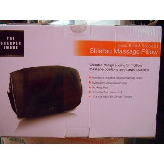 The Sharper Image MSG P110 Neck, Back and Shoulders Shiatsu Massager Pillow, Black Health & Personal Care