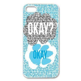 Popular quote Okay cute bear paw design hard plastic case for Iphone 5/5S Cell Phones & Accessories