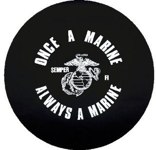 Once a Marine Spare Tire Cover  Sports Fan Tire And Wheel Covers  Sports & Outdoors
