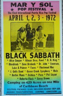Mar Y Sol Puerto Rico Pop Festval 1972 Featuring Black Sabbath and Others Home & Kitchen