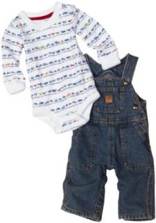 Carhartt Baby boys Infant Bib Overall Set, Vintage Wash, 6 Months Clothing