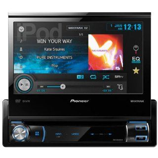 "Pioneer In Dash 7"" DVD//USB Flip Out Touchscreen Multimedia Car Stereo Receiver w/ IPod/Iphone Control, Pandora Link & MIXTRAX, Built In MOSFET 50W x 4 Amplifier, 3 Sets Of RCA Preouts, 8 Band Graphic Equalizer, Rear View Camera Input, Advanced"