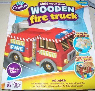 Build Your Own Wooden Fire Truck Toys & Games