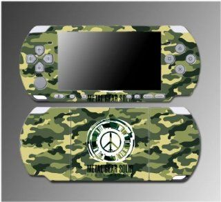 Metal Gear Solid Peace Walker Solid Snake Video Game Vinyl Decal Sticker Cover Skin Protector for Sony PSP Slim 3000 3001 3002 3003 3004 Playstation Portable Video Games