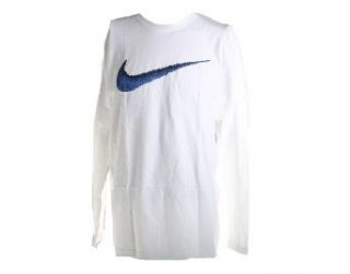 Nike Hangtag Swoosh Men's Long Sleeve T Shirt Medium Blue/White  Sports Fan T Shirts  Sports & Outdoors