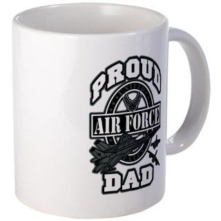 Mug (Coffee Drink Cup) Proud Air Force Dad Jets  Us Air Force Dad Mug