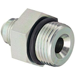 "Eaton Aeroquip 202702 12 8S Steel Flared Tube Fitting, Adapter, 1/2"" Male JIC x 3/4"" O Ring Boss Male"