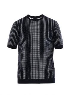 Intarsia knit short sleeved sweater  Jil Sander