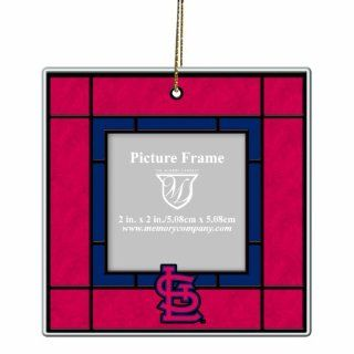 MLB St. Louis Cardinals Art Glass Picture Frame Ornament  Sports Fan Hanging Ornaments  Sports & Outdoors