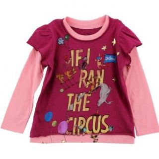 "Dr. Seuss ""If I Ran the Circus"" Raspberry Toddler Distressed Long Sleeve T Shirt (4T) Clothing"