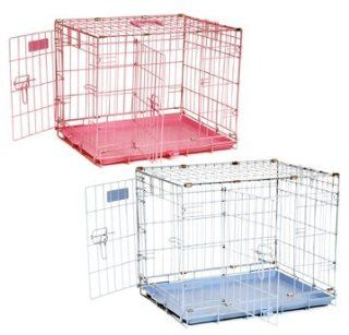 "Precision Pet ProValu by Great Crate Two Door SPECIAL EDITION   Baby Blue. Perfect for Puppies and Small Dogs Available in PINK or BLUE, this ""suitcase style"" wire crate provides safety, security, ventilation, and visibility for your pet in a du"