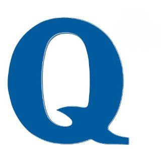 "Wooden Letter ""Q"" Color Royal Blue   Nursery Wall Hangings"
