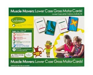 Fundanoodle Muscle Movers Lower Case Letter Cards and Activity Kit, Ages 5 6/K to First Grade (15282)  Early Childhood Development Products