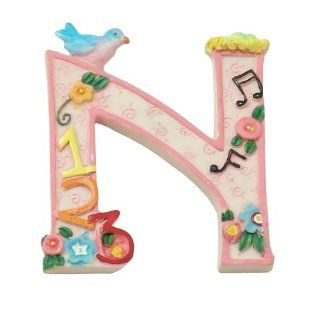 "MARY ENGELBREIT Decorative Alphabet Letter Super Magnet ~ ""N"" ~ Nest ~ Numbers ~ Notes Refrigerator Magnets Kitchen & Dining"