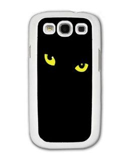 Black Cat Eyes   Samsung Galaxy S3 Cover, Cell Phone Case   White Cell Phones & Accessories
