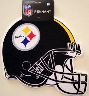 Pittsburgh Steelers Die Cut Helmet Pennant  Sports Related Pennants  Sports & Outdoors
