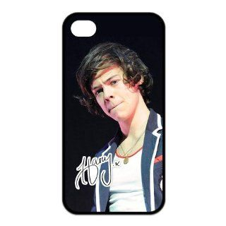 Top Iphone Case Pop Singer Harry Styles of Pop Boy Band One Direction Design for TPU Best Iphone 4/4s Case (black) Cell Phones & Accessories