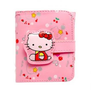 Hello Kitty Print Pink Wallet Clothing