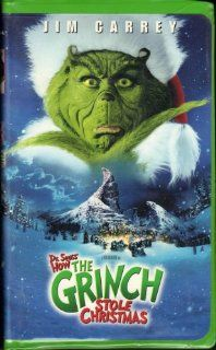 How the Grinch Stole Christmas (2000 Feature Film Starring Jim Carrey) [VHS Video] [Clamshell Case] Jim Carrey, Taylor Momsen, Jeffrey Tambor, Christine Baranski, Bill Irwin, Ron Howard, Aldric La'auli Porter, Brian Grazer, David Womark, Linda Fields,