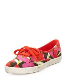 Keds Floral Canvas Pointer Sneaker, Bougainvillea   kate spade new york
