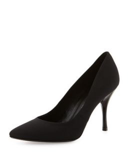 Brave Point Toe Crepe Pump, Black   Donald J Pliner   Black (36.0B/6.0B)