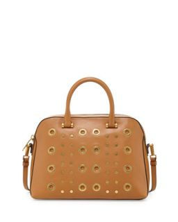 Kent Leather Satchel Bag, Caramel   Milly